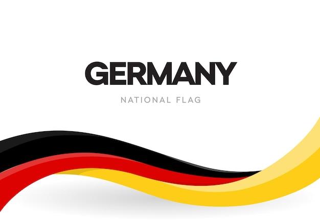 Die bundesrepublik deutschland schwenkt flagge Premium Vektoren