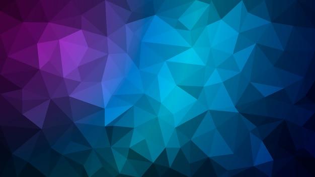 Die dunkelblaue polygonale darstellung besteht aus dreiecken. geometrischer hintergrund im origami-stil mit farbverlauf. Premium Vektoren