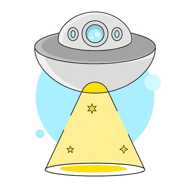 Die entführung der space bowl illustration geeignet für grußkarten, poster oder t-shirt-druck. Premium Vektoren