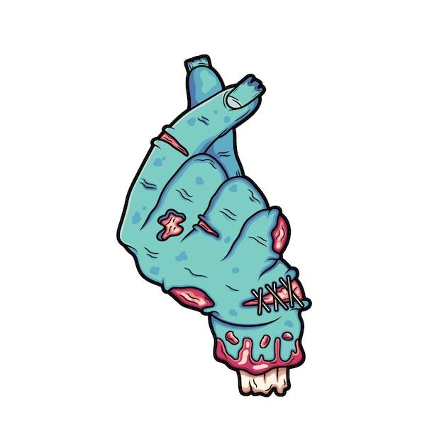 Die gebrochene zombiehand macht die signatur so. Premium Vektoren