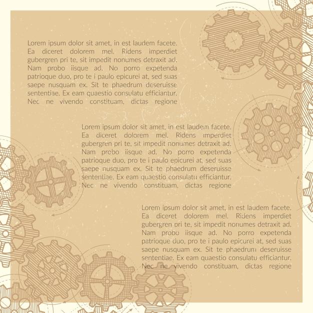 Die gezeichnete weinlesehand übersetzt plakathintergrund Premium Vektoren