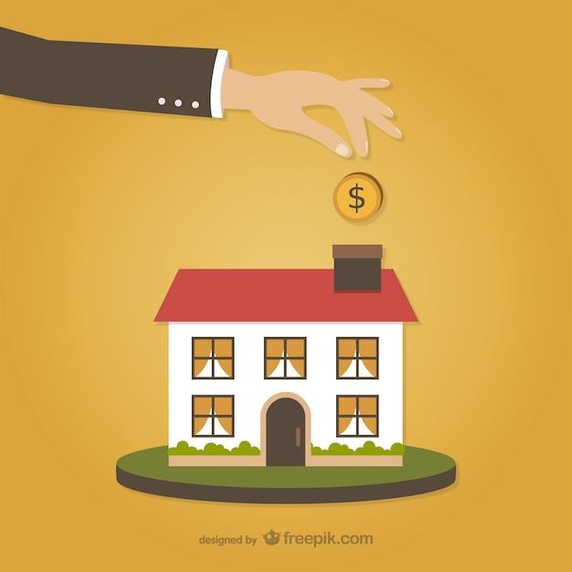 Die investition in bau Kostenlosen Vektoren