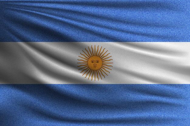 Die nationalflagge von argentinien. Premium Vektoren