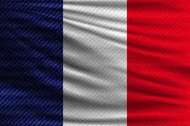 Die nationalflagge von frankreich. Premium Vektoren