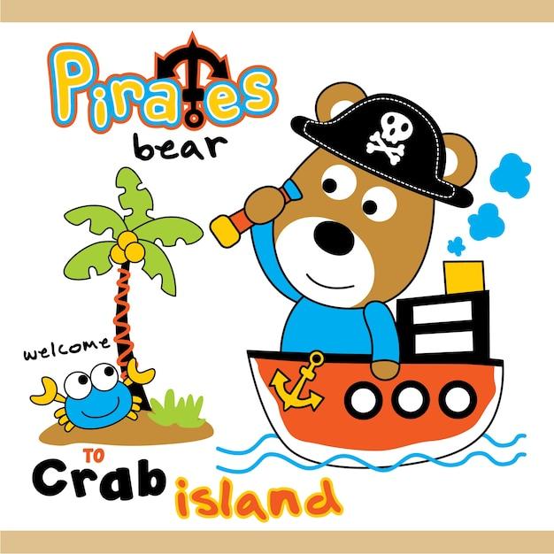 Die piraten tragen Premium Vektoren