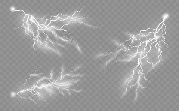 Die wirkung von blitz und licht, reißverschluss, gewitter und blitz, symbol für natürliche stärke oder magie, licht und glanz, abstrakt, elektrizität und explosion, vektorillustration, eps 10 Premium Vektoren