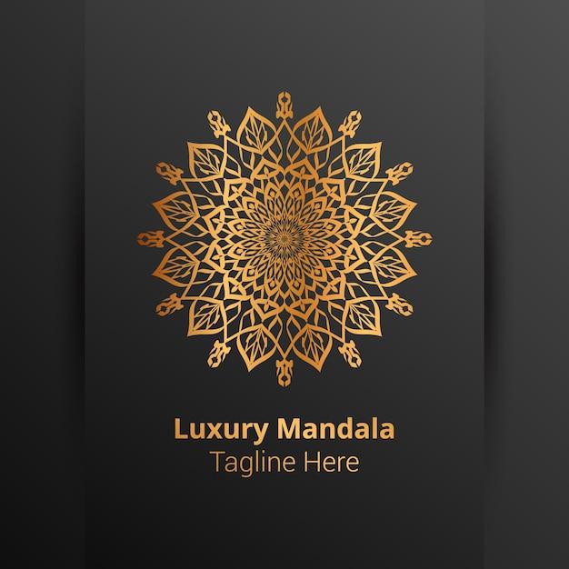 Dies ist luxus zier mandala logo hintergrund, arabeske stil. Premium Vektoren
