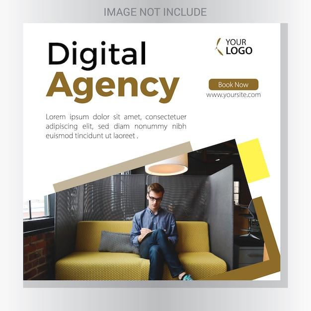 Digital agency banner Premium Vektoren