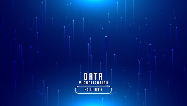 Digital blau leuchtender hintergrund der technologie big data Kostenlosen Vektoren
