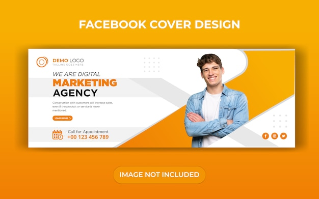 Digital business marketing facebook cover vorlage design Premium Vektoren