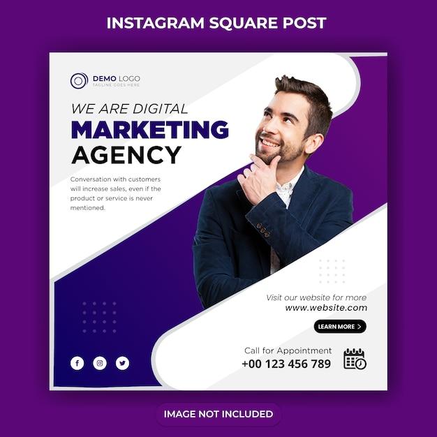 Digital business marketing social media post & web-banner Premium Vektoren