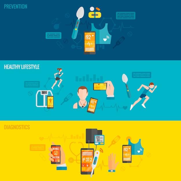 Digital health banner Kostenlosen Vektoren