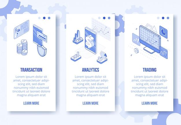 Digital isometrische banner geld Premium Vektoren