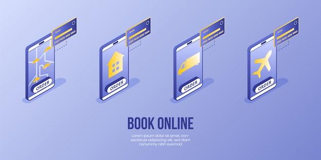 Digital isometrische design-konzept Premium Vektoren