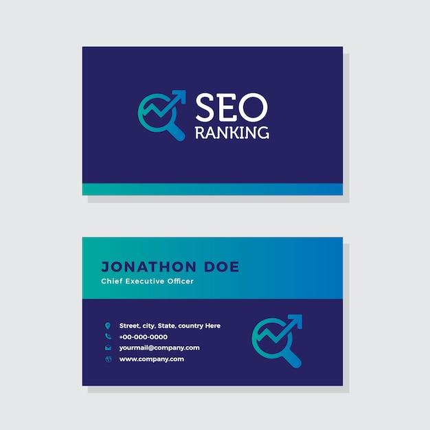 Digital Marketing Seo Visitenkarte Design Download Der