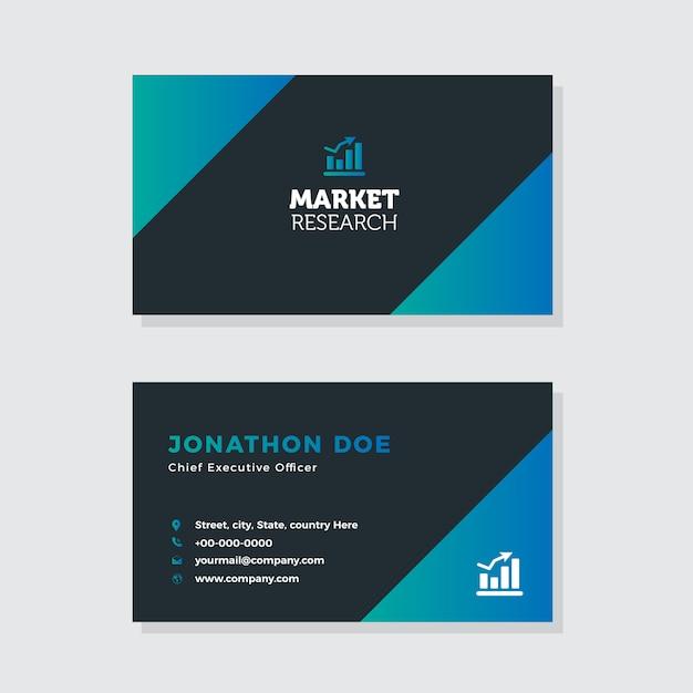 Digital Marketing Visitenkarte Design Premium Vektor