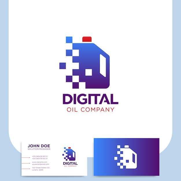 Digital Pixel öl Gallonen Symbol Raffination Industrie Logo