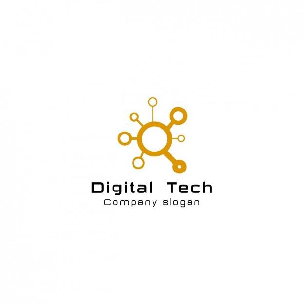 Digitale comany logo-vorlage Kostenlosen Vektoren