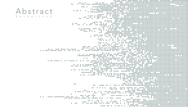 Digitale datenquadratpixel der abstrakten technologie Kostenlosen Vektoren