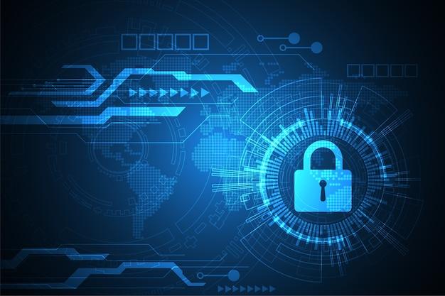 Digitale sicherheitssysteme. Premium Vektoren