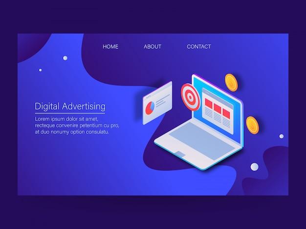Digitale werbung Premium Vektoren