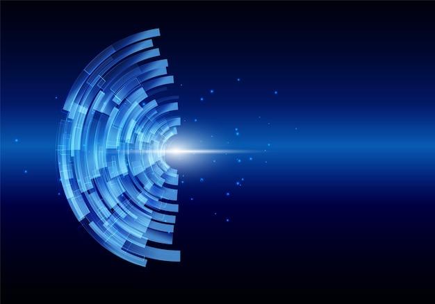 Digitaler hintergrund der abstrakten technologie Premium Vektoren
