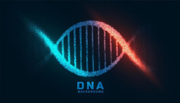 Digitales dna-design mit partikelhintergrund Kostenlosen Vektoren