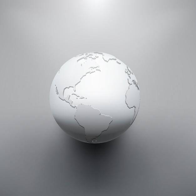 Digitales erdbild des globus Premium Vektoren