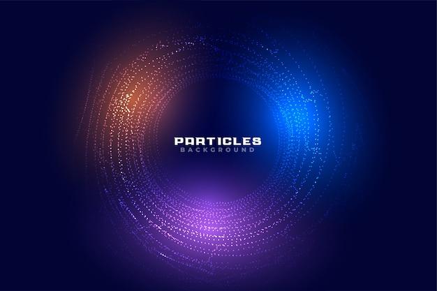 Digitales futuristisches hintergrunddesign des abstrakten kreisförmigen teilchens Kostenlosen Vektoren