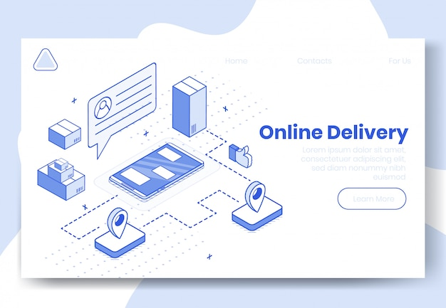 Digitales isometrisches designkonzept set Premium Vektoren
