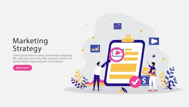 Digitales marketing-strategiekonzept des teilnehmers. empfehlen sie einen freund mit personencharakter Premium Vektoren