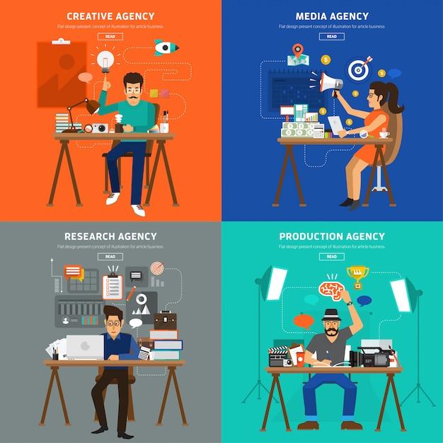 Digitales marketing Premium Vektoren