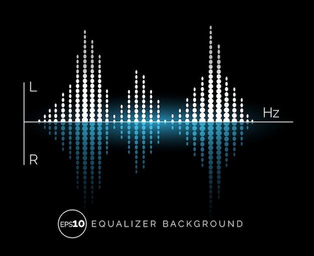 Digitales sound-design-element des equalizers Premium Vektoren