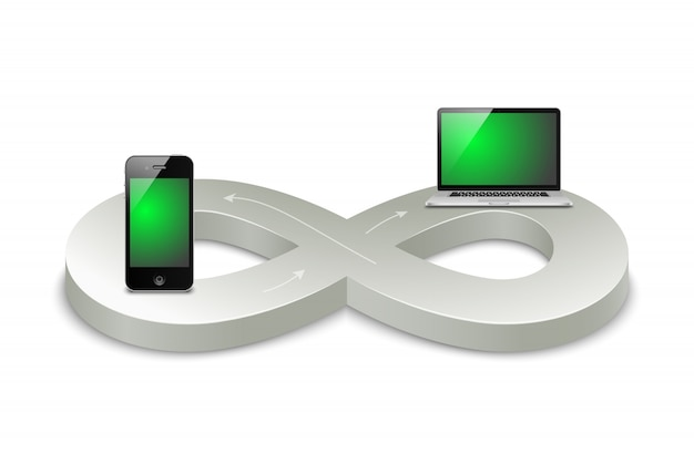 Digitales zeitalter Kostenlosen Vektoren