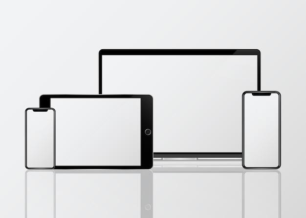 Digitalgerät-modellsatz Kostenlosen Vektoren