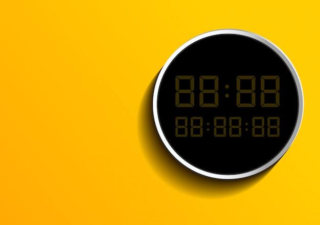 Digitalnummer auf feld über gelb Premium Vektoren