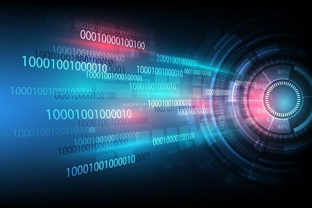 Digitaltechnik abstrakten hintergrund Premium Vektoren
