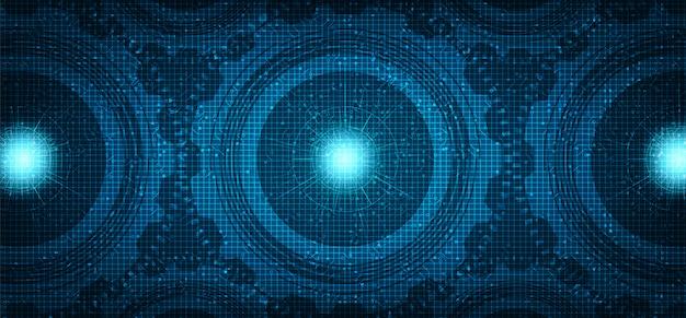 Digitaltechnik übersetzt rad- und hahnhintergrund Premium Vektoren