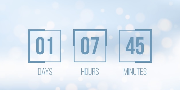 Digitaluhr, countdown Premium Vektoren