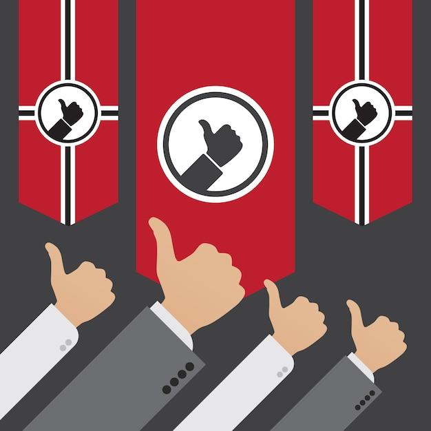 Diktatur des gleichen. begriffsillustration passend für die werbung und die förderung Premium Vektoren