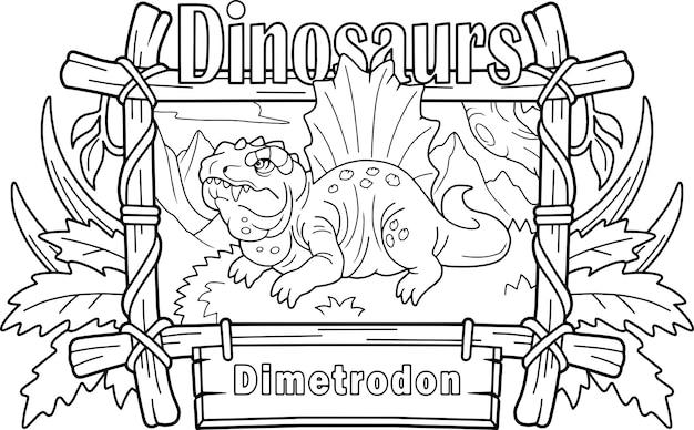 Dinosaurier dimetrodon Premium Vektoren