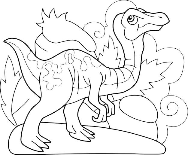 Dinosaurier gallimimus Premium Vektoren