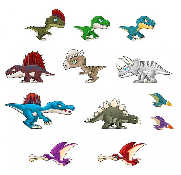 Dinosaurier-illustrationen Premium Vektoren