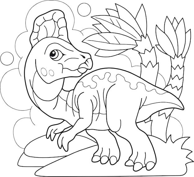 Dinosaurier malbuch Premium Vektoren