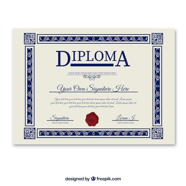 Diplom-vorlage Kostenlosen Vektoren