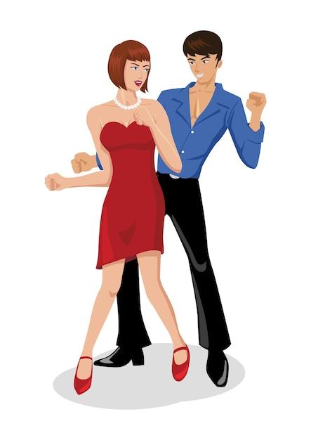 Disco-Tanz-Paar | Download der Premium Vektor