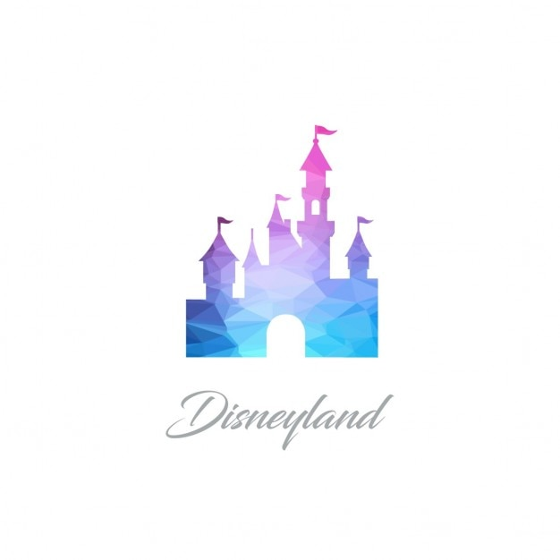 Disney Land Denkmal Polygon-Logo | Download der kostenlosen Vektor