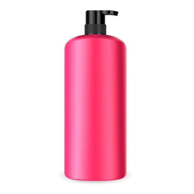 Dispenser pump kosmetische flasche. batcher-behälter Premium Vektoren