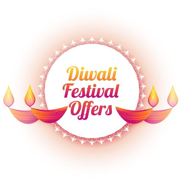 Diwali-festival bieten bunte diya illustration an Kostenlosen Vektoren