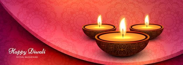 Diwali festival feier welle banner oder header Kostenlosen Vektoren